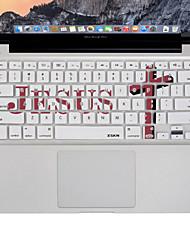 XSKN jésus croix silicium conçu couverture de peau de clavier d'ordinateur portable pour macbook air / macbook pro 13 15 17 pouces, nous
