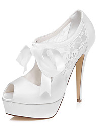 cheap -Women's Wedding Shoes Heels / Platform Heels Wedding / Dress Ivory / White