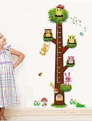 Flower Tree Growth Chart Wall Art Home Decorations Animal Stickerscartoon Children Wall Decals Zooyoocd