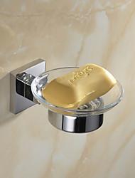 お買い得  -浴室用品セット ミラーポリッシュ仕上げ ウォールマウント 7.4*6.8*4cm(3*2.8*1.6inch) ステンレス モダン