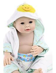 baratos -npkdoll boneca reborn silicone dura 20 polegadas 50 centímetros magnética linda realistas brinquedo gir bonito do menino pato amarelo azul