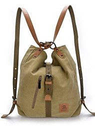 Women Bags All Seasons Canvas Backpack for Casual Outdoor Black Coffee Red Blue Khaki