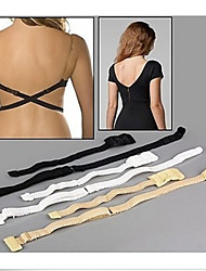 cheap -1PC Women Summer Low Back Dress Extension Bra Strap Long Belt Converter