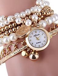 cheap -Women's Elegant Pearl Design Bracelet Quartz Wristwatch