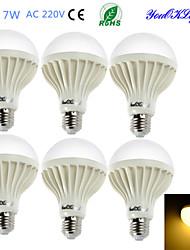 preiswerte -YouOKLight 550 lm E26/E27 LED Kugelbirnen B 12 Leds SMD 5630 Dekorativ Warmes Weiß Wechselstrom 220-240V