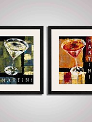 cheap -Framed Art Print Framed Canvas Framed Set Abstract Landscape Still Life Food & Beverage Holiday Leisure Wall Art, PVC Material With Frame