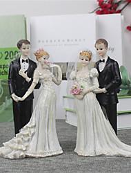 la mariée et le marié gâteau topper (taille moyenne) réception de mariage