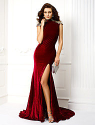 Sirène / trompette Robe de soirée en velours velours / balle à couteau à haute couture par ts couture®