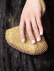 Femme Sacs Acrylique Sac de soirée Cristal / strass pour Soirée / Fête Or Blanc Noir