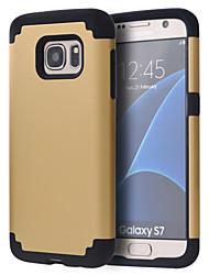billiga -fodral Till Samsung Galaxy Samsung Galaxy S7 Edge Stötsäker Stötsäkert fodral Enfärgad PC för S8 / S8 Edge / S7 edge plus