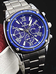 Недорогие -Мужской Наручные часы Кварцевый сплав Группа Серебристый металл