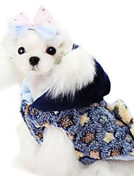 Hund Mäntel Hundekleidung Modisch Sterne Gelb Blau