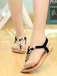 お買い得  -女性用 靴 フリース 夏 コンフォートシューズ フラットヒール のために アウトドア ブラック ベージュ ブルー