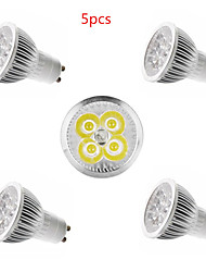 5pcs 4W E14/GU10/GU5.3/E27 LED Spotlight 4 SMD 350lm Warm White Cold White Decorative AC85-265V