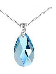 Áustria cristal gota colar de pingente, jóias finas