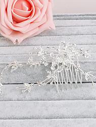 cheap -Rhinestone Hair Combs Headpiece Wedding Party Elegant Feminine Style