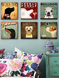 Недорогие -Животные 1 панель Квадратный С картинкой Декор стены Украшение дома