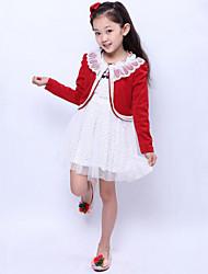 preiswerte -Mädchen Kleidungs Set einfarbig Baumwolle Frühling / Herbst Rosa / Lila / Rot