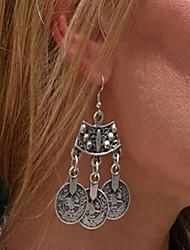 Dámské Visací náušnice Velké šperky Punkový styl Módní bižuterie Stříbro Šperky Pro