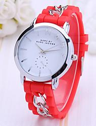 cheap -Women's Quartz Wrist Watch Hot Sale Plastic Band Charm Dress Watch Fashion Black White Blue Red Pink Purple
