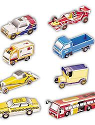 3D-puslespil Papirmodel Legetøjsbiler Legetøj Bil 3D 8 Stk.