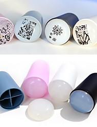 baratos -1set novo estilo redondeza haste mão macia de sílica Nail Art Stamper raspador user-friendly (cor aleatória)