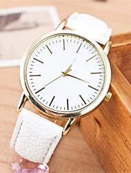 abordables -Mujer Cuarzo Reloj de Pulsera Gran venta Piel Banda Encanto Moda Negro Blanco Marrón