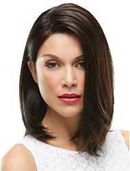 Women Synthetic Wig Capless Medium Straight Brown Halloween Wig Carnival Wig Costume Wigs
