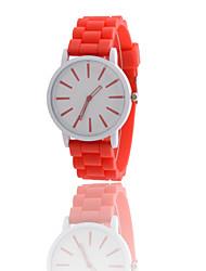 cheap -Women's Wrist Watch Hot Sale Rubber Band Charm / Fashion Black / White / Blue