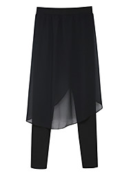 Women's Solid Black Skinny / Harem Pants , Vintage / Street chic