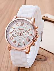 Women European Style Fashion Silicone Roman Numerals Wrist Watches Cool Watches Unique Watches Strap Watch