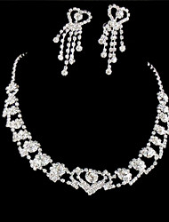 cheap -Women's Jewelry Set Earrings / Necklace - Silver For Wedding / Party / Special Occasion