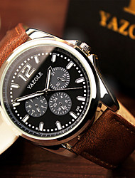 Luxury High Quality Black Brown Genuine Leather Quartz Business Dress Wrist Watch Wristwatches Men Male Cool Watch Unique Watch Fashion Watch