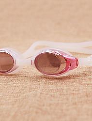 Недорогие -плавательные очки Противо-туманное покрытие По предписанию врача Зеркальный силикагель Поликарбонат белый красный фиолетовый