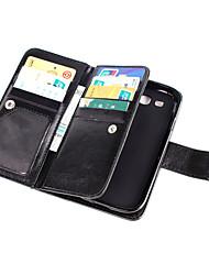 billiga -SHI CHENG DA fodral Till Samsung Galaxy Samsung Galaxy-fodral Plånbok / Korthållare / Lucka Fodral Enfärgad PU läder för Grand Prime / Core Prime