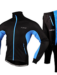 cheap -FJQXZ Cycling Jacket with Pants Men's Bike Tracksuit Jacket Clothing Suits Winter Fleece Bike Wear Waterproof Dust Proof Wearable