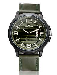 baratos -V6 Homens Relógio de Pulso Calendário Couro Banda Amuleto Preta / Marrom / Verde / Dois anos / Mitsubishi LR626
