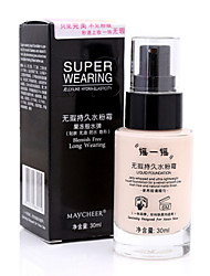 cheap -1 Foundation Wet / Matte Liquid Coverage / Long Lasting / Concealer Face Multi-color Zhejiang MJ