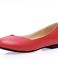 Women's Flats Spring Fall Light Soles PU Office & Career Dress Casual Flat Heel Hiking