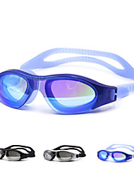 cheap -Swimming Goggles Waterproof Silica Gel PC White Black Blue Green Black Blue Gold Silver