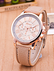 cheap -Women's European Style Fashion Personality Leather Strap Watch Roman Numerals Wrist Watch Cool Watches Unique Watches