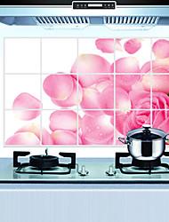 cucina rimovibile oilproof adesivi murali con le decalcomanie a casa impermeabile stile petalo di rosa pioggia d'arte