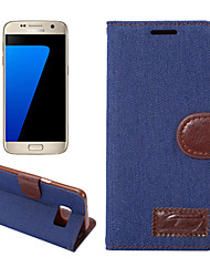 cheap -For Samsung Galaxy S8 Plus S7 Edge S6 Edge Plus Case Cover Denim Mobile Phone Holster for S5 Mini S4 Mini Active S3