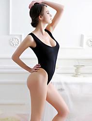 cheap -Women's Beach Skinny Romper - Solid U Neck