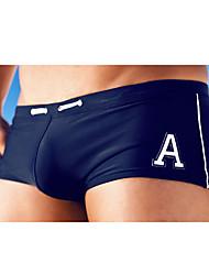 cheap -Men's Letter & Number Solid Bottoms Swimwear,Polyester Nylon Red Green Blue Pink Light gray