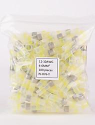 iztoss 100шт 12-10awg водонепроницаемым припой& запечатать терминальные разъемы термоусадочные стыковые с паяльной рукав crimples
