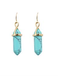 cheap -Women's Drop Earrings - Vintage Ethnic Bohemia Blue Pink Earrings For Wedding Party Daily
