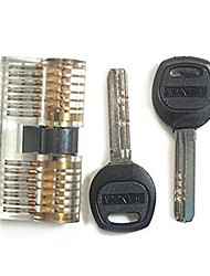 cheap -Professional Visible Cutaway of Challenge Lock for Training Skill with 2 Keys and 2 Heads
