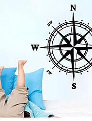 cheap -Compass background living room bedroom waterproof removable wall stickers customized wholesale