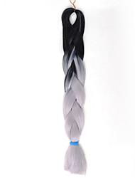 abordables -Box Braids Rajouts Colorés 100% cheveux kanekalon Tresses Jumbo Cheveux Tressée